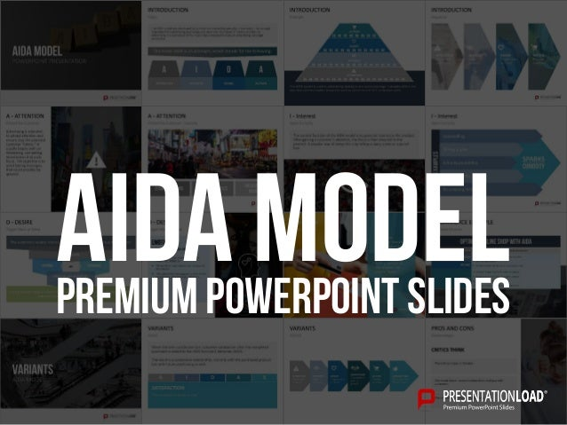 PREMIUM POWERPOINT SLIDES AIDA model