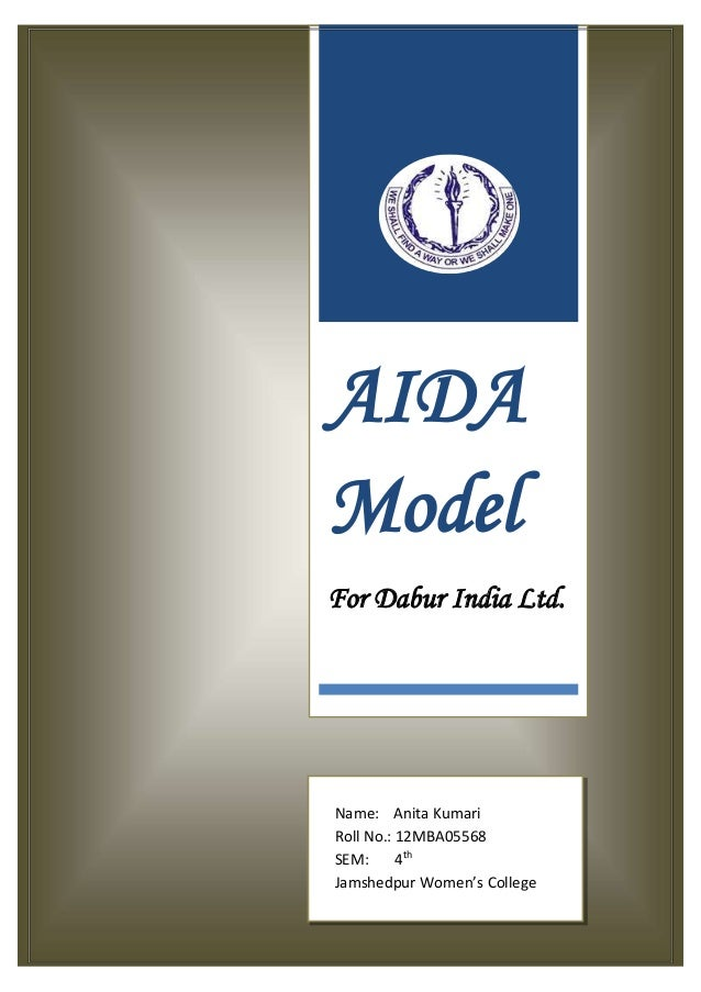 AIDA Model For Dabur India Ltd. Name: Anita Kumari Roll No.: 12MBA05568 SEM: 4th Jamshedpur Women's College