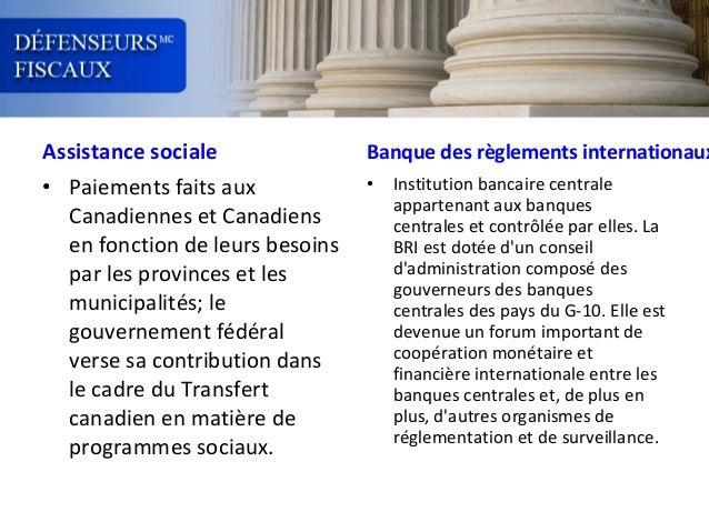 Assistance sociale  Banque des règlements internationaux  • Paiements faits aux Canadiennes et Canadiens en fonction de le...