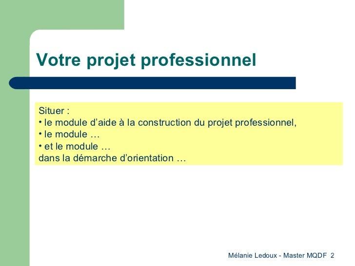 aide la construction du projet professionnel