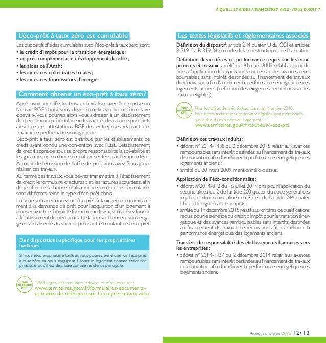 Aides Financieres 2016 Pour Des Travaux De Renovation