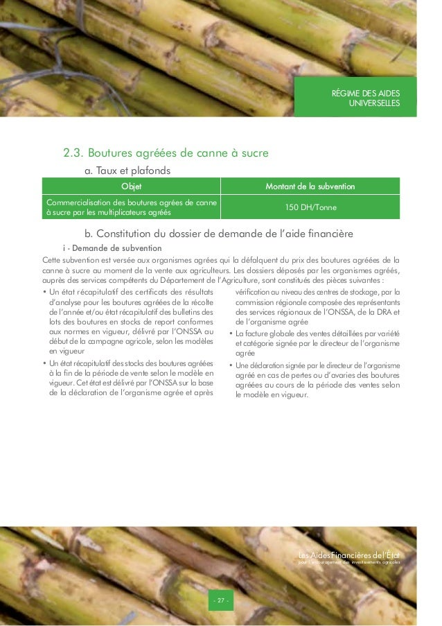 aides financi u00e8res plan maroc vert pmv
