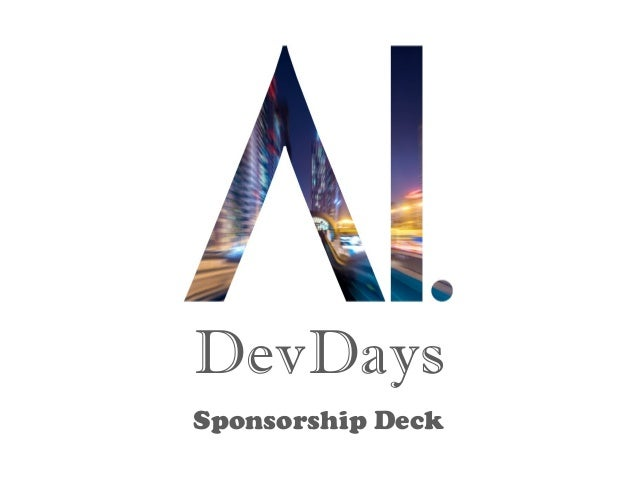 DevDays Sponsorship Deck