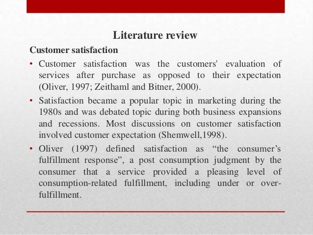 review of literature on customer satisfaction
