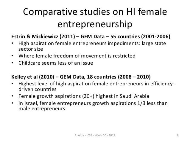 impact of culture on women entrepreneurship 2 culture, entrepreneurship and development in africa 1 introduction africa is a broken-down continent, economically and socially the humanitarian dimension of.