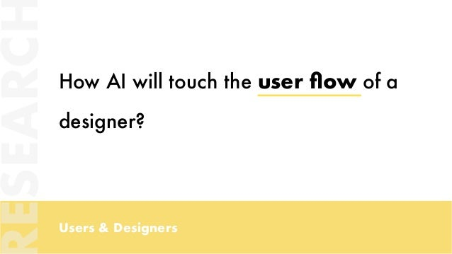 Users & Designers How AI will touch the user flow of a designer? ESEARC