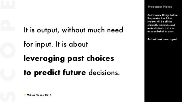 It is output, without much need for input. It is about leveraging past choices to predict future decisions. // Miklos Phil...