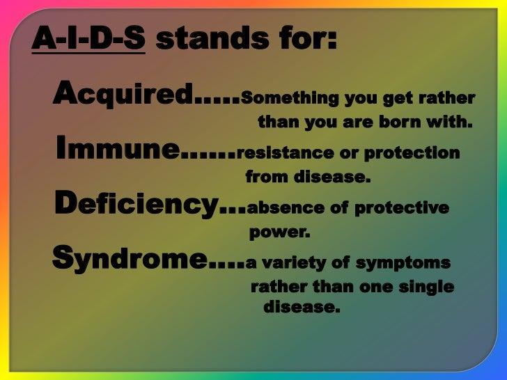 AIDS (Acquired Immune Deficiency Syndrome) Slide 3