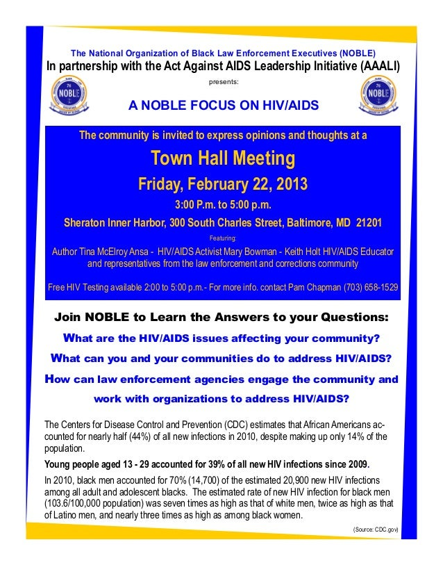 The National Organization of Black Law Enforcement Executives (NOBLE)In partnership with the Act Against AIDS Leadership I...