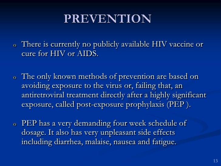 Aids prevention and precaution