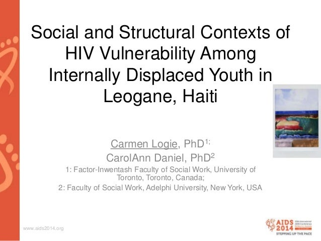 www.aids2014.org Social and Structural Contexts of HIV Vulnerability Among Internally Displaced Youth in Leogane, Haiti Ca...