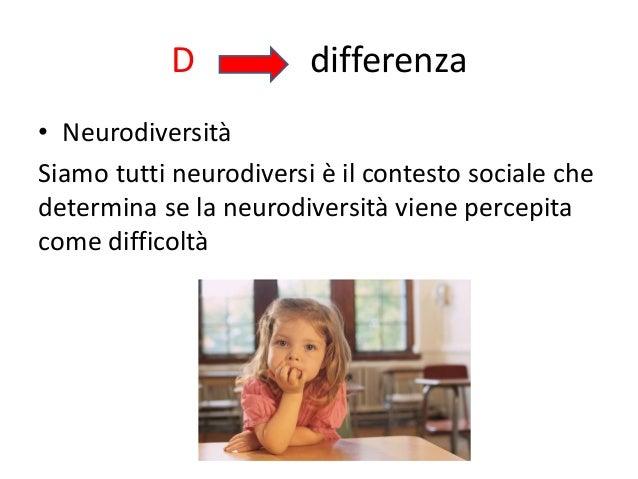 D differenza • Neurodiversità Siamo tutti neurodiversi è il contesto sociale che determina se la neurodiversità viene perc...