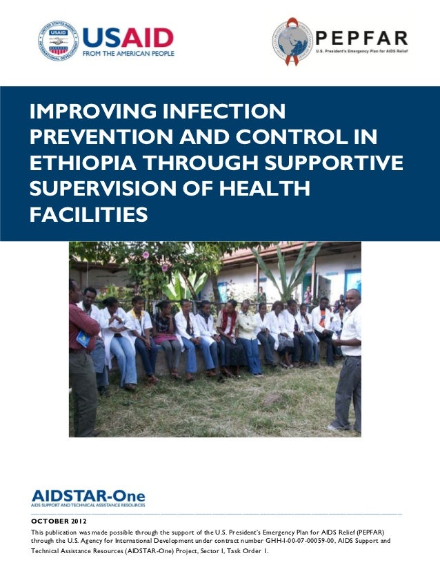 |IMPROVING INFECTIONPREVENTION AND CONTROL INETHIOPIA THROUGH SUPPORTIVESUPERVISION OF HEALTHFACILITIES___________________...