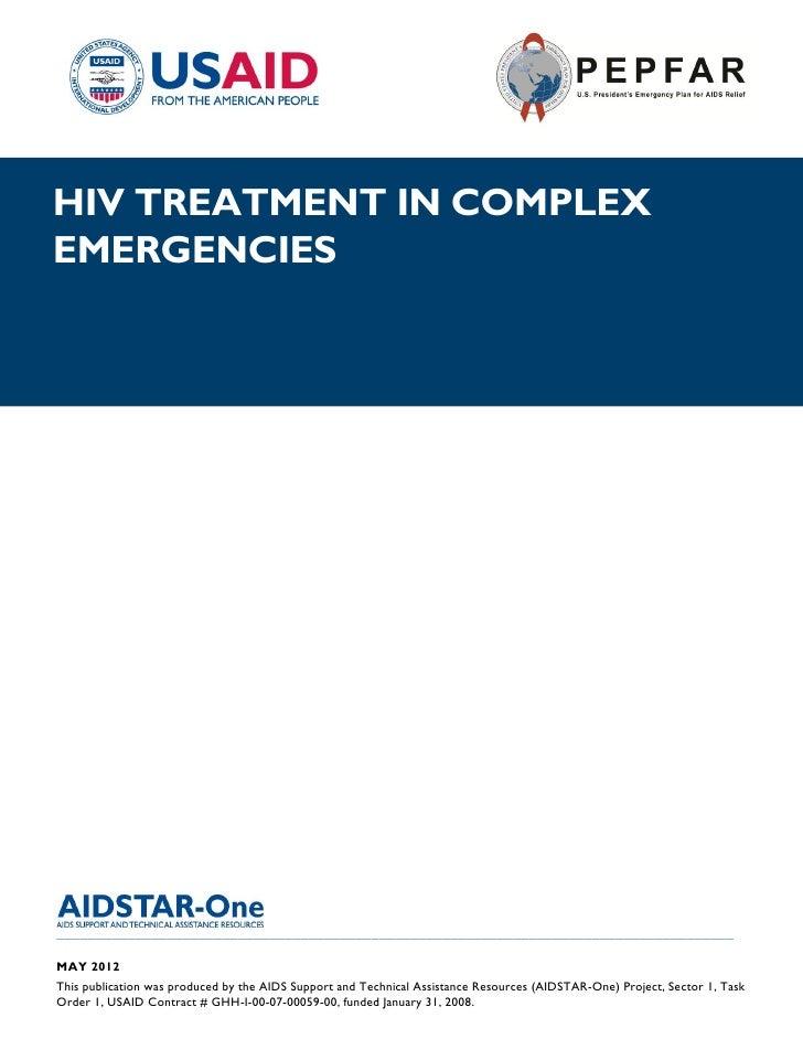 |HIV TREATMENT IN COMPLEXEMERGENCIES______________________________________________________________________________________...