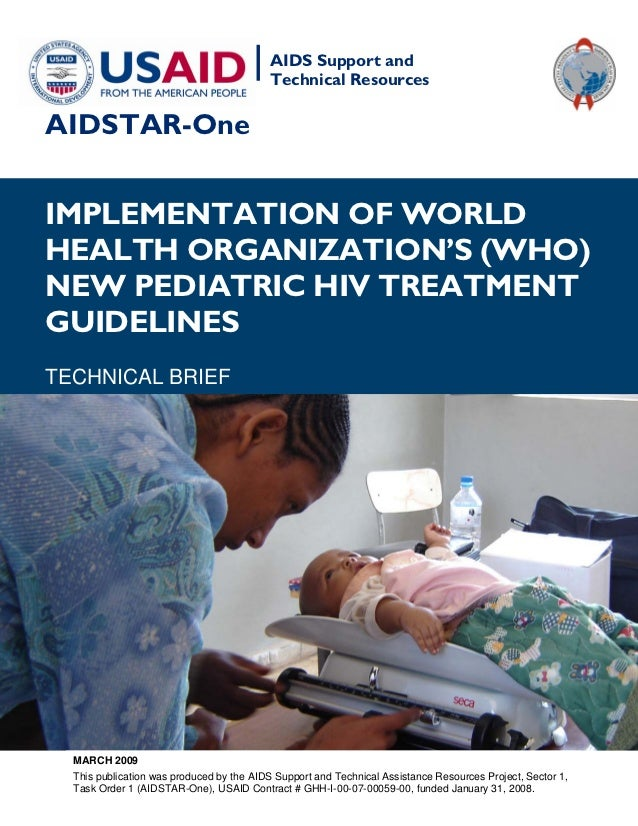 |   AIDS Support and                                           Technical ResourcesAIDSTAR-OneIMPLEMENTATION OF WORLDHEALTH...
