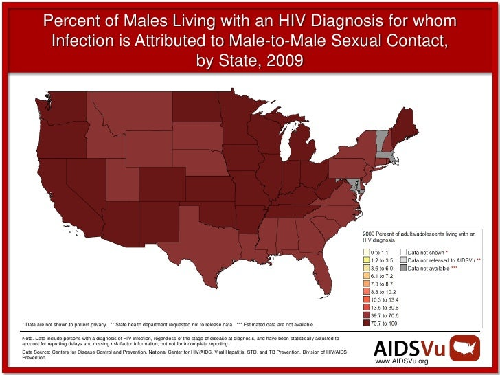 Percent of Males Living with an HIV Diagnosis for whom          Infection is Attributed to Male-to-Male Sexual Contact,   ...