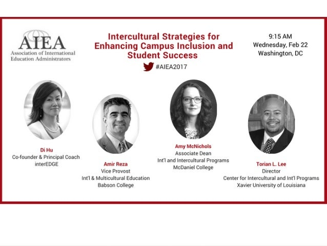 Intercultural  Strategies  for  Enhancing  Campus   Inclusion  and  Student  Success      February  ...