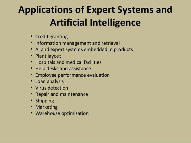 expert systems and artificial intelligence Depicting the diagram shown in types of gaming ai under expert system, there  are a few requirements into developing a weapon selection ai.
