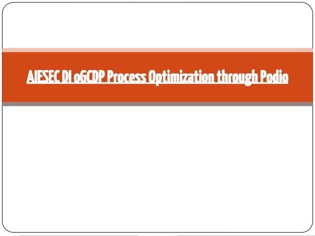 AIESEC DI oGCDP Process Optimization through Podio