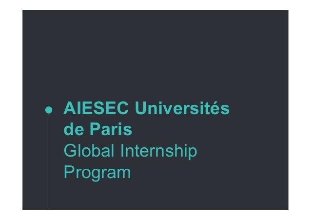 AIESEC Universités de Paris Global Internship Program