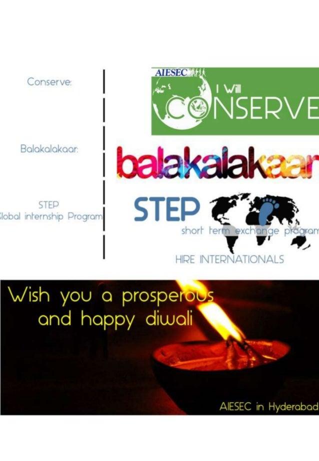 Contents • • • • • • • •  About AIESEC STEP – Global Internship Program Balakalakaar Conserve National Partners Local Part...