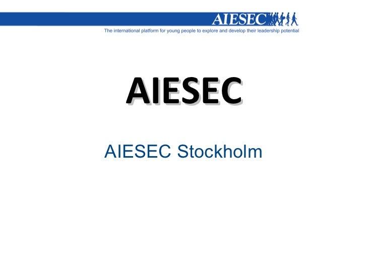 AIESEC AIESEC Stockholm