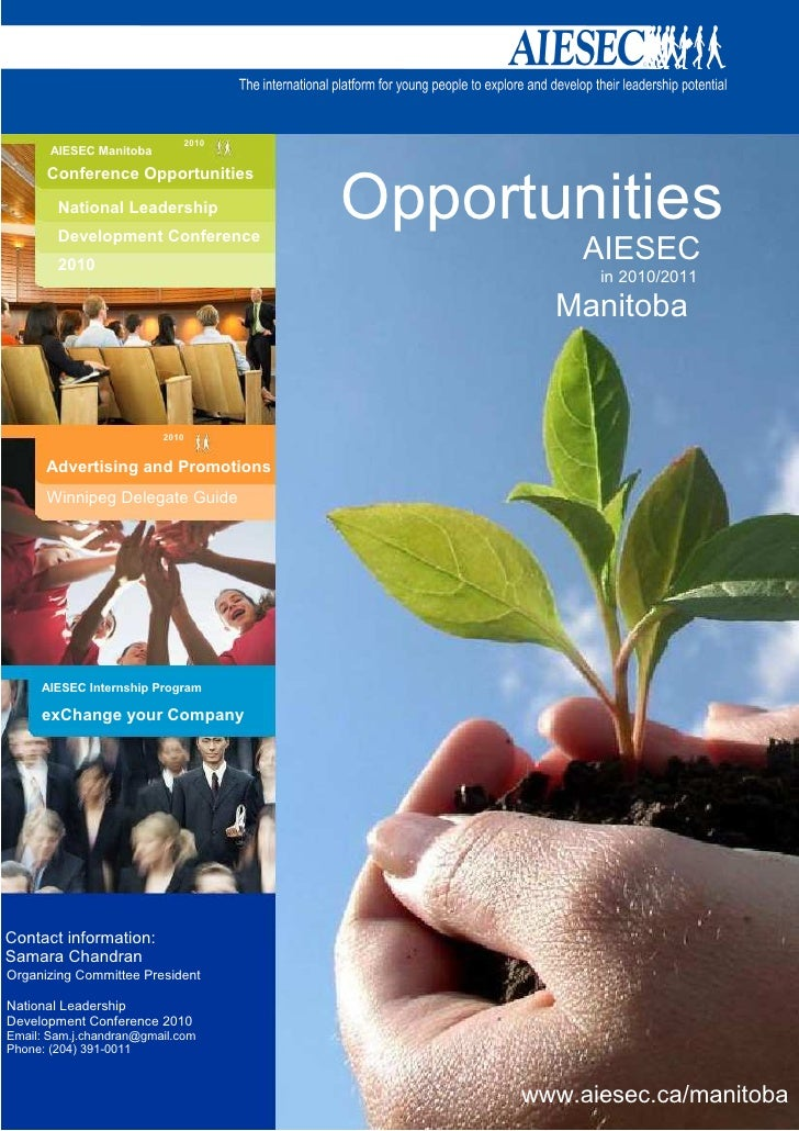 .                                2010            AIESEC Manitoba           Conference Opportunities              National ...