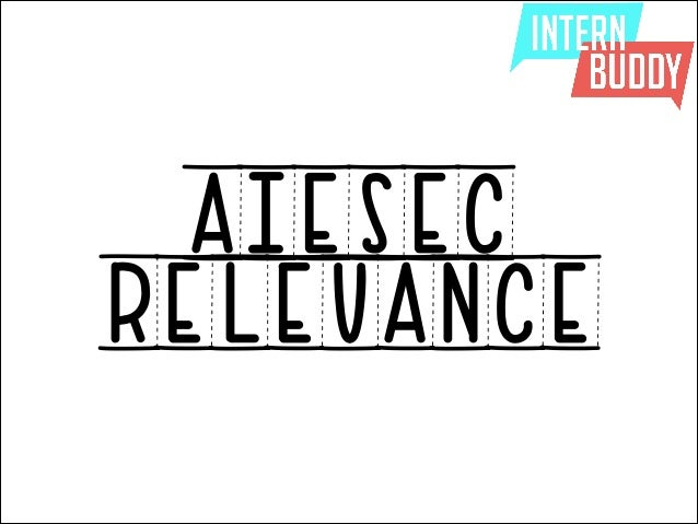AIESEC RELEVANCE