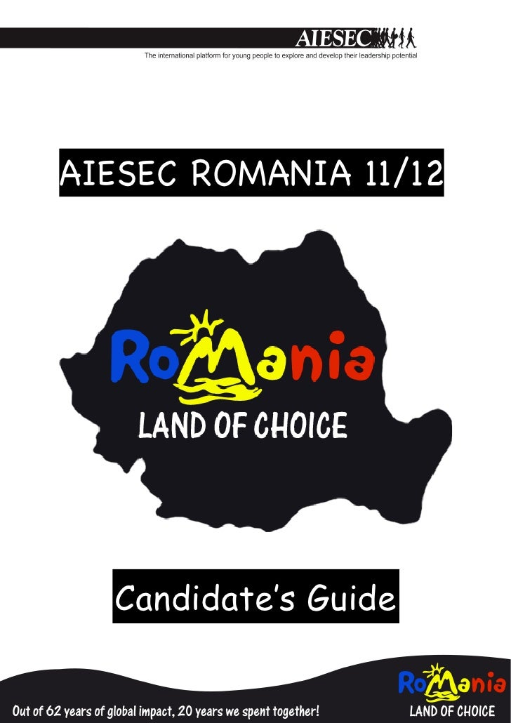 !AIESEC ROMANIA 11/12                        !!    Job Descriptions    Candidate's Guide                    !