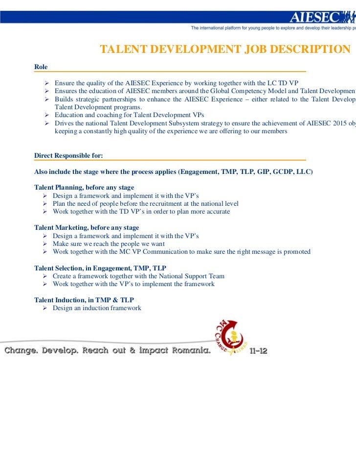 AIESEC Romania 12-13 Job Descriptions