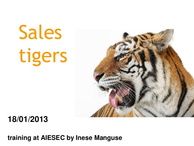 Sales   tigers18/01/2013training at AIESEC by Inese Manguse