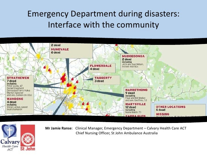 Emergency departments: community interface during disasters