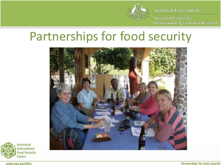 Partnerships for food security