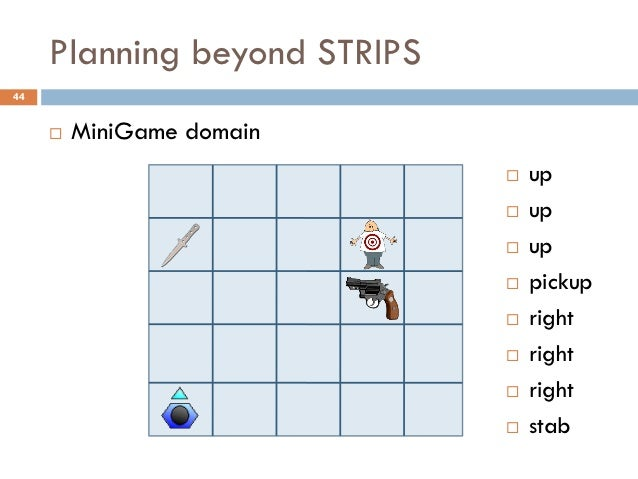 Planning beyond STRIPS44        MiniGame domain                                 up                                 up  ...