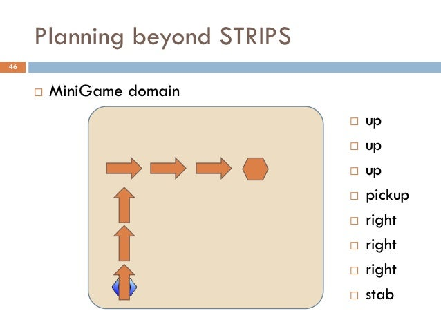 Planning beyond STRIPS46        MiniGame domain                                 up                                 up  ...
