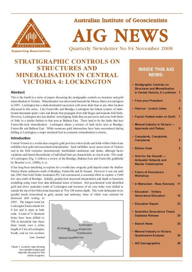 Australian Institute of Geoscientists                                                         AIG NEWS                    ...
