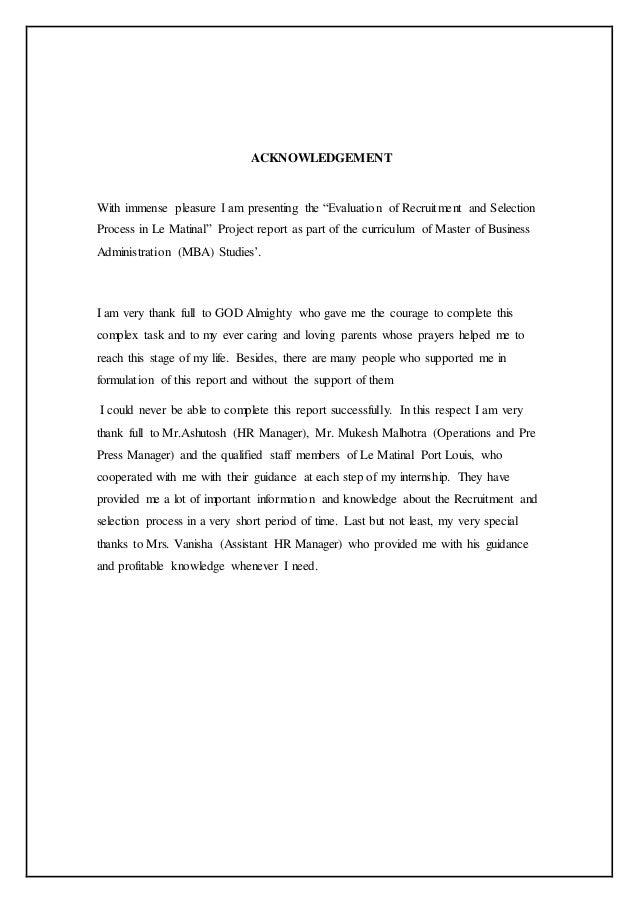 internship evaluation report