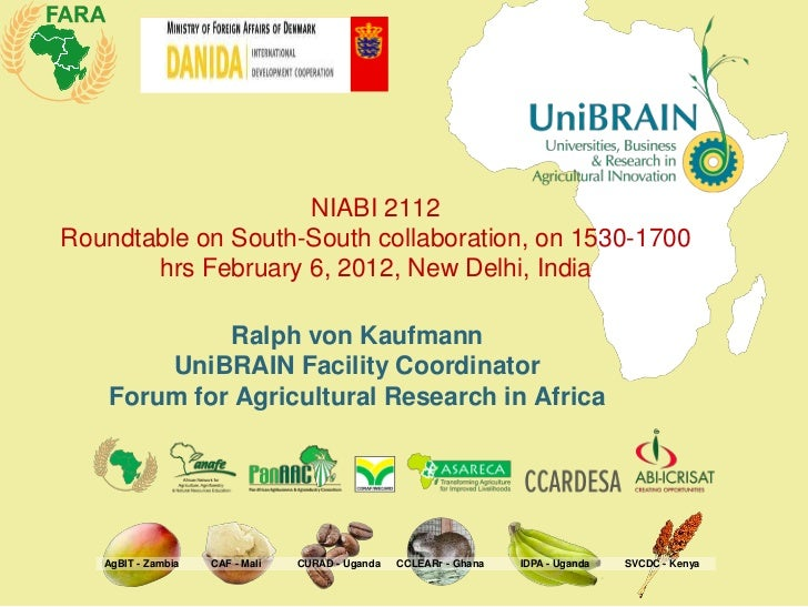 NIABI 2112Roundtable on South-South collaboration, on 1530-1700       hrs February 6, 2012, New Delhi, India             R...