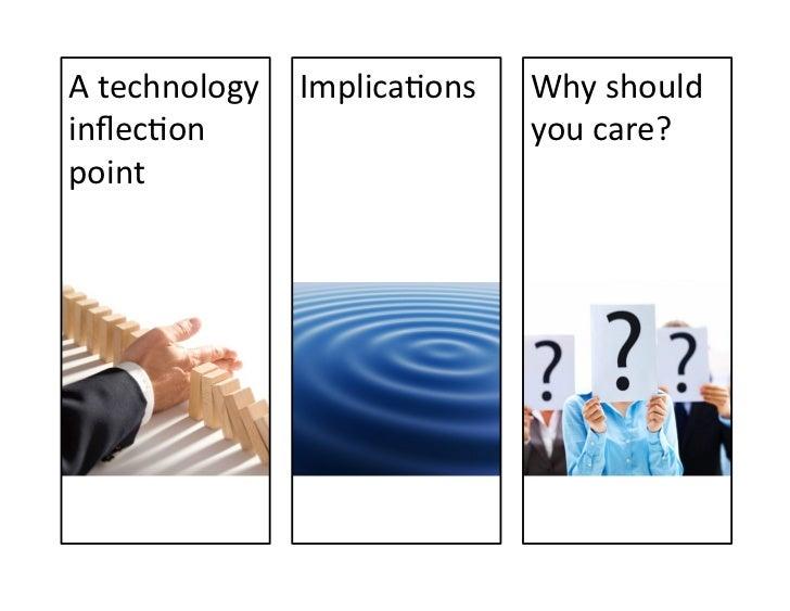 A technology inflecVon point