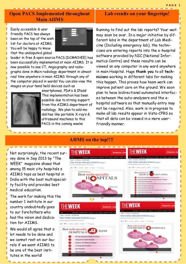 AIIMS newsletter Volume 1 Issue 1 Slide 3