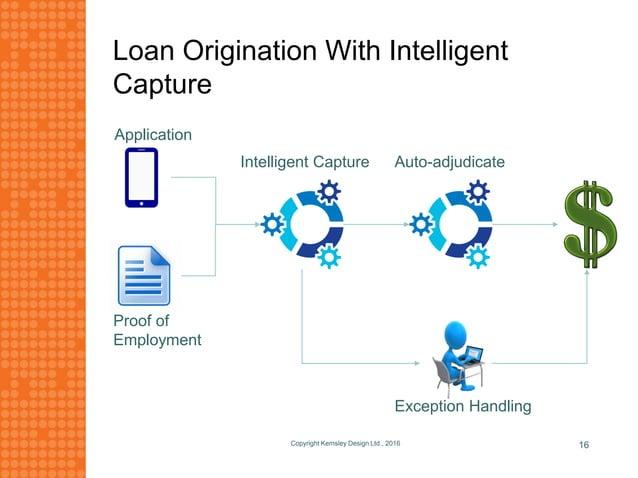 Loan Origination With Intelligent Capture Copyright Kemsley Design Ltd., 2016 16 Application Proof of Employment Intellige...