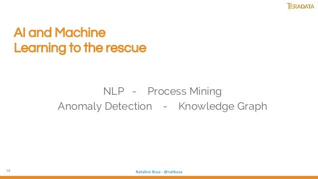 14 AI and Machine Learning to the rescue NLP - Process Mining Anomaly Detection - Knowledge Graph