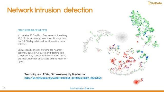 26 Network Intrusion detection http://billsdata.net/?p=105 It contains 130 million flow records involving 12,027 distinct ...