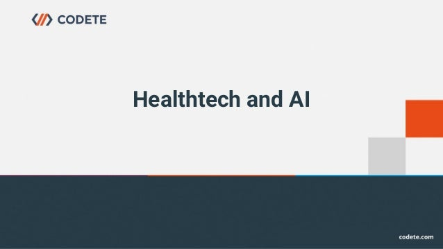 Healthtech and AI