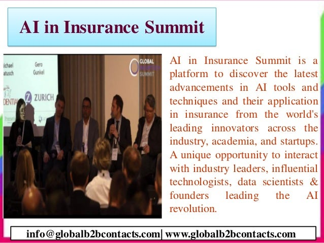 AI in Insurance Summit • AI in Insurance Summit is a platform to discover the latest advancements in AI tools and techniqu...