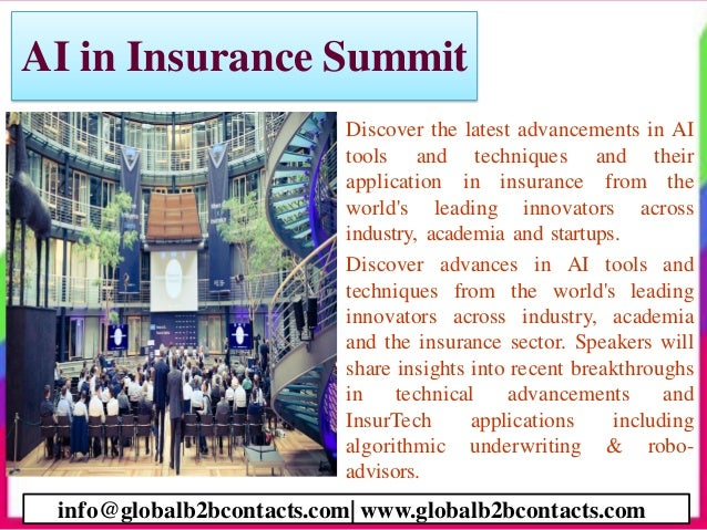 AI in Insurance Summit • Discover the latest advancements in AI tools and techniques and their application in insurance fr...