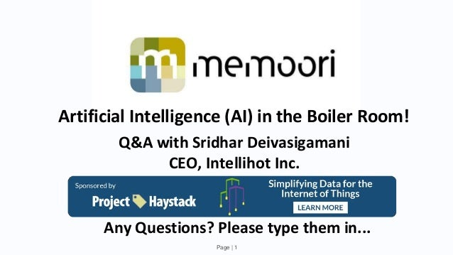 Artificial Intelligence (AI) in the Boiler Room!