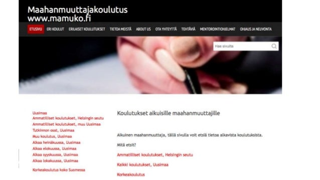 Aikuisten maahanmuuttajien koulutus Uudellamaalla Slide 2