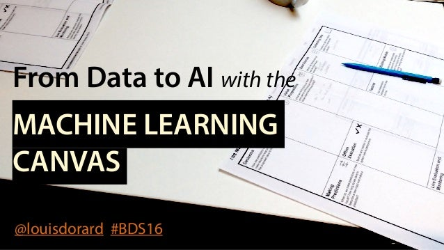 From Data to AI with the MACHINE LEARNING CANVAS @louisdorard #BDS16