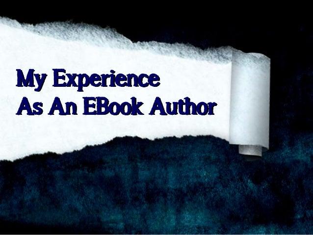My Experience As An EBook Author